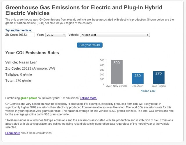 EPA Beyond Tailpipe Emissions Tool