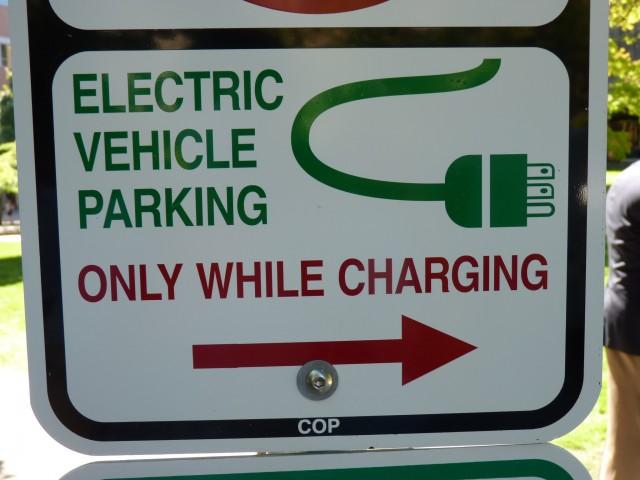 EV parking sign, Portland OR