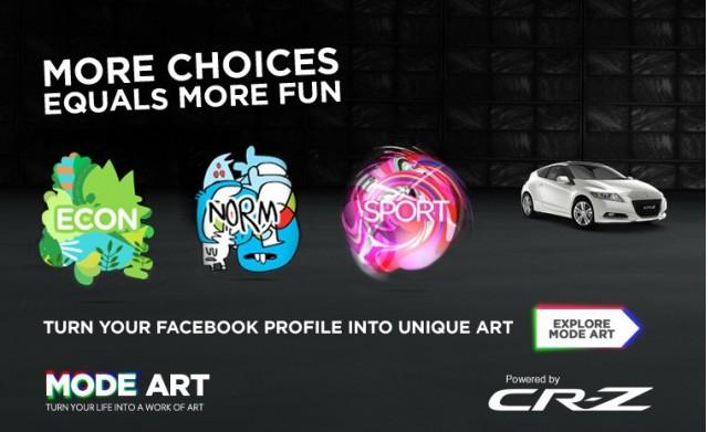 Facebook app for the Honda CR-Z