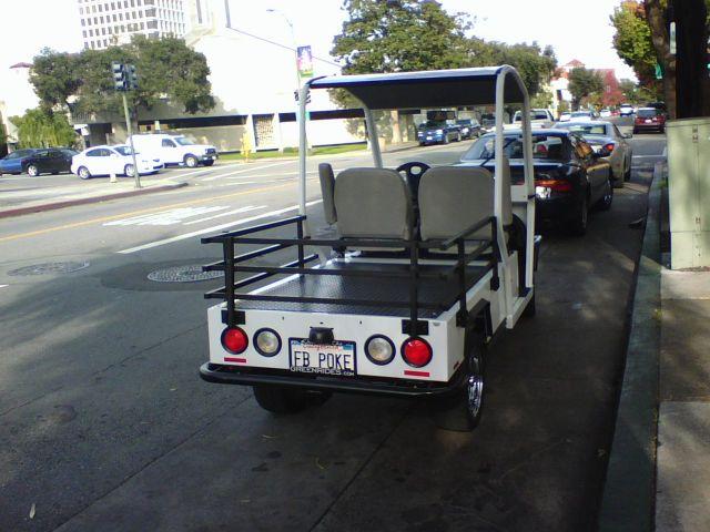 Facebook CEO Mark Zuckerberg golf cart