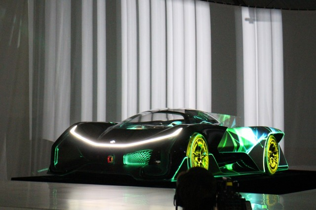 Faraday Future FFZERO1 Concept, unveiled at 2016 Consumer Electronics Show, Las Vegas