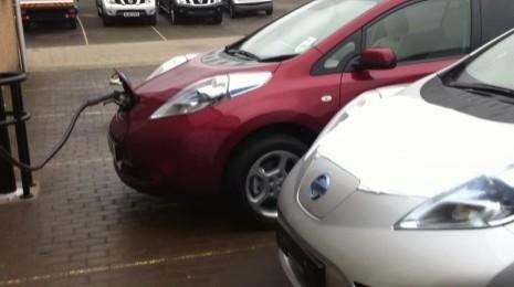 Fast Charging 2011 Nissan Leaf