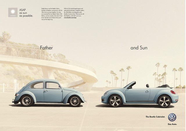 'Father and Sun' ad for the 2013 Volkswagen Beetle Cabriolet