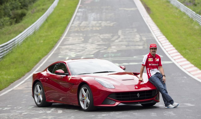 Fernando Alonso and the Ferrari F12 Berlinetta
