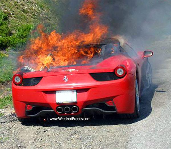 Ferrari 458 Italia: I'm melting...melting...