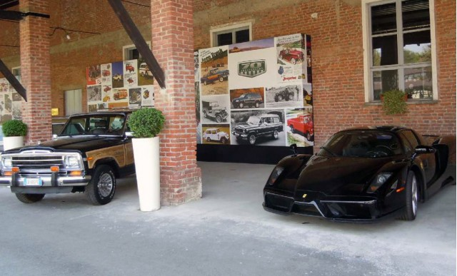 Sergio Marchionne and his black Ferrari Enzo