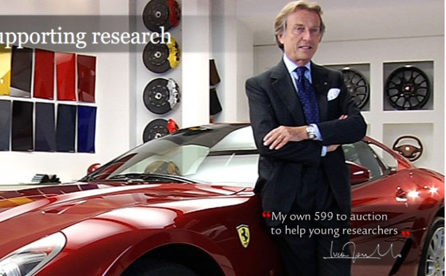 Ferrari Chairman Luca di Montezemolo with his 599 GTB Fiorano
