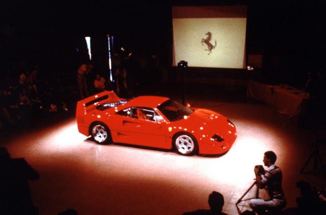 Ferrari F40 debut at the Civic Center in Maranello, Italy - July 21, 1987