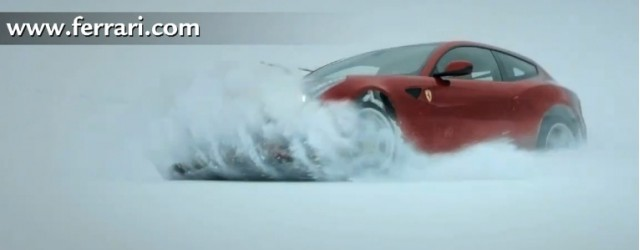 Ferrari FF plows through snow
