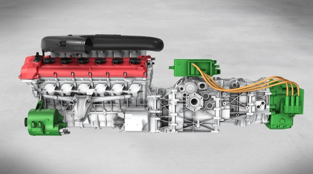 Ferrari HY-KERS in mid-rear engine configuration