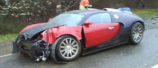 first bugatti veyron crash. Black Bedroom Furniture Sets. Home Design Ideas