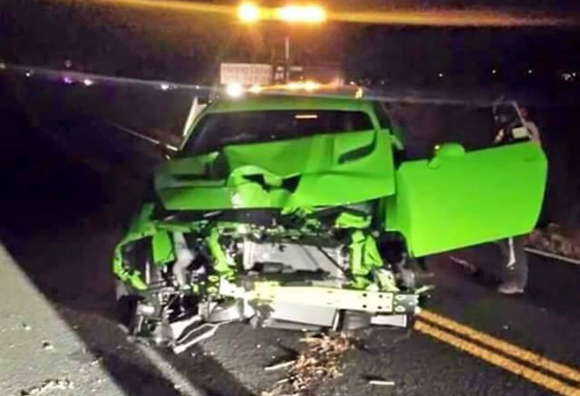 2015 Dodge Challenger SRT Hellcat crash in Colorado