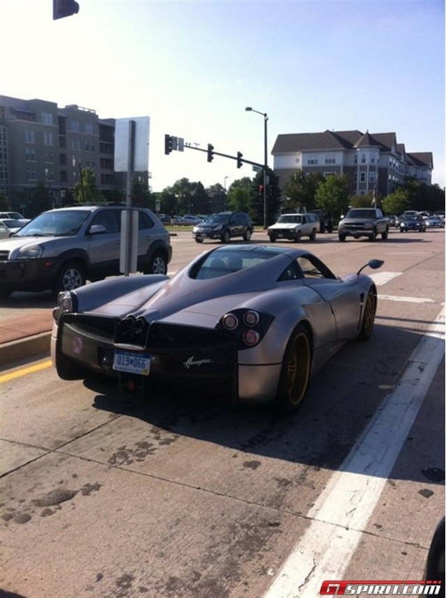 First Pagani Huayra spotted in U.S. Image via GT Spirit.