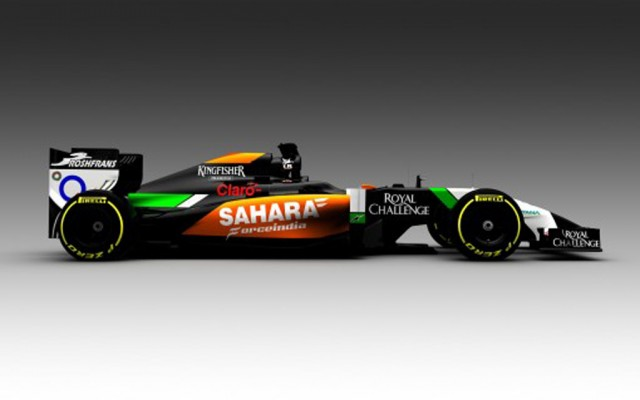Force India's VJM07 2014 Formula One car