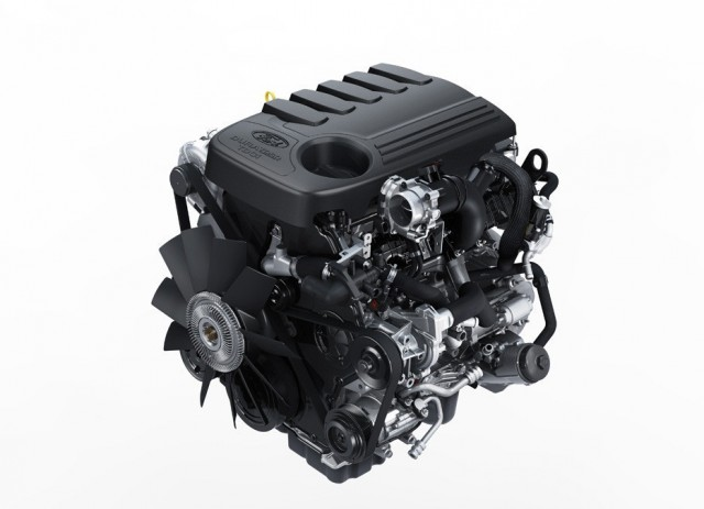 Ford 3.2-liter PowerStroke Diesel engine, as fitted to 2014 Ford Transit van