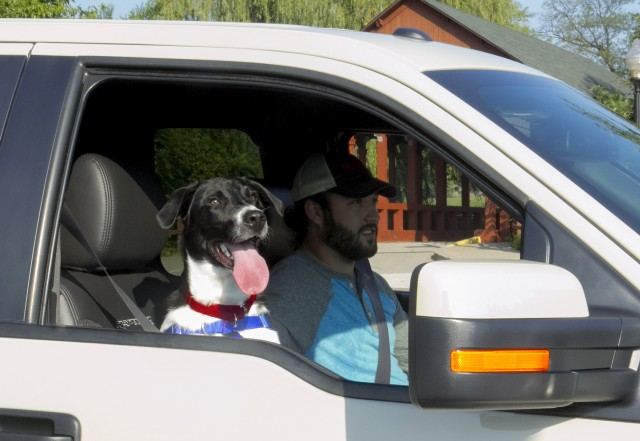 Ford & American Humane Association remind pickup drivers: dogs ride inside
