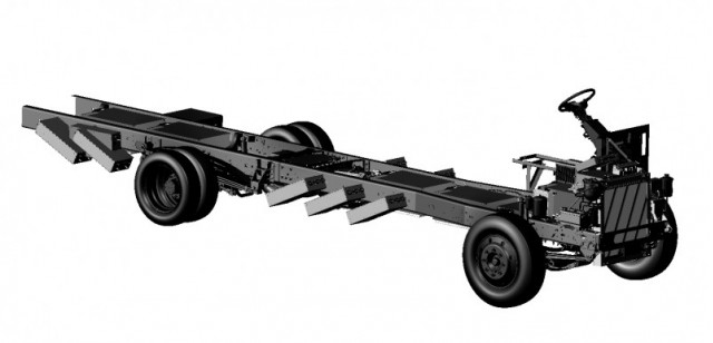 Ford F59 chassis with Motiv Power Systems electric conversion