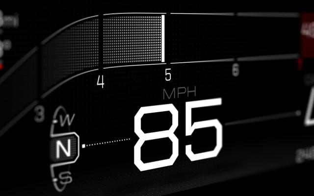 Ford GT instrument cluster Normal mode