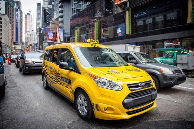 Ford Transit Connect Hybrid taxi prototype