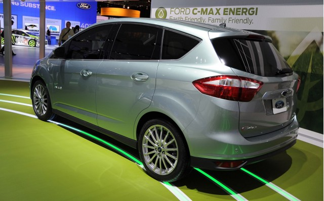 2011 Ford C-Max Energi Plug-In Hybrid Concept live photos. Photo by Joe Nuxoll.