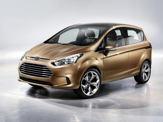 Ford's B-Max Concept featured the 1.0-liter EcoBoost Engine. Image: Ford Motor Company