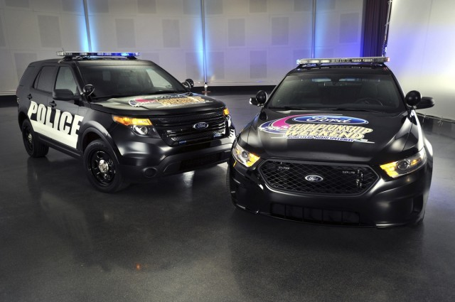 Ford's Police Interceptors, now serving as NASCAR pace cars.