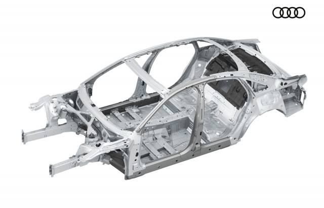 Fourth-generation Audi A8's multi-material spaceframe