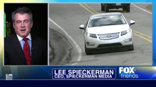 Fox News commentary on Chevy Volt (screen capture), March 2012