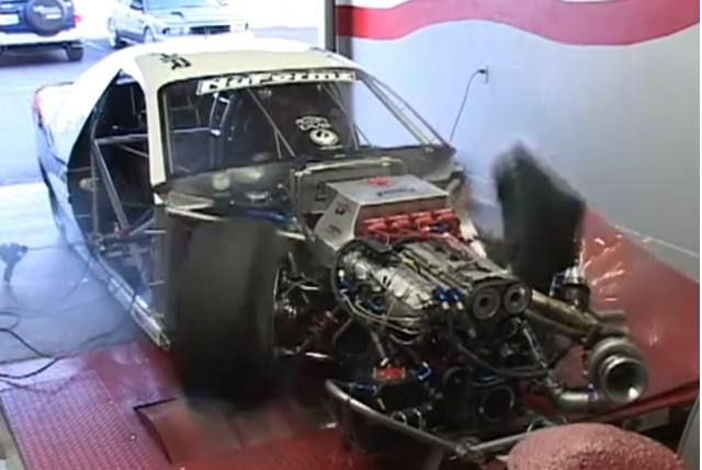 FrontWheel Drive Drag Car Blows Tire SelfDestructs On Dyno