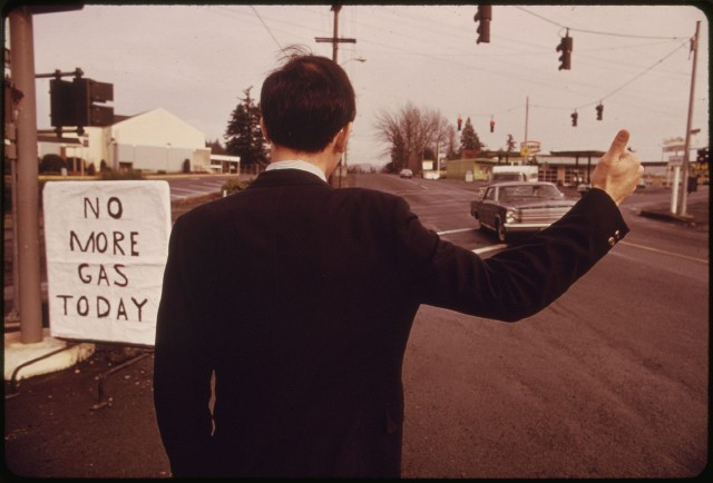 Gas shortage in the Pacific Northwest, December 1973