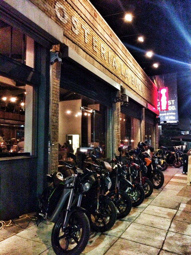 Gathering of electric motorcycle riders [photo via author Ben Rich]