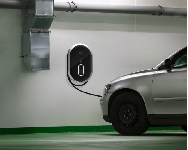 GE WattStation Electric Car Charging Station