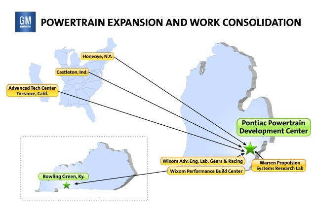 General Motors' plan for powertrain expansion and work consolidation (February 2013)