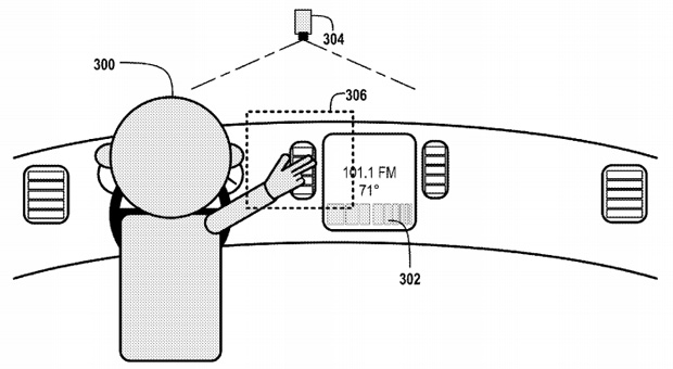 Gesture-based in-car controls from Google