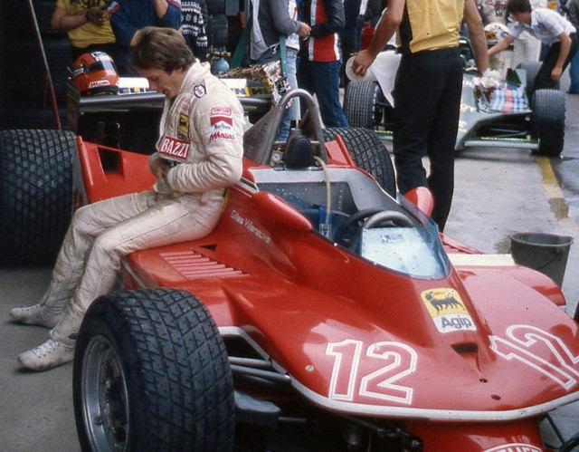 Gilles Villeneuve and the Ferrari 312 T4 at Imola, 1979.