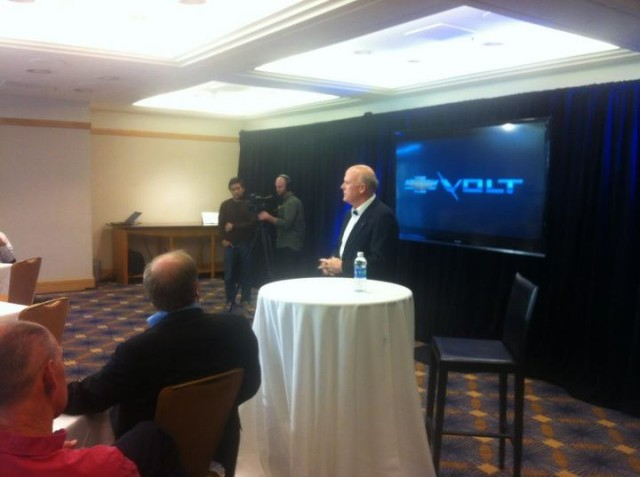 GM CEO Dan Akerson speaks to Chevy Volt owners, San Francisco, Mar 2012 (photo: Shad Balch, GM)