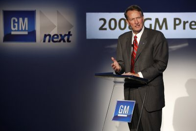 GM chairman Richard Wagoner 2008
