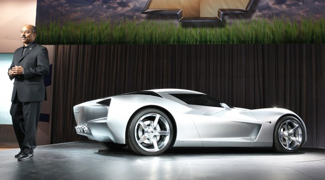 GM design chief Ed Welburn presents the 2009 Chevrolet Corvette Stingray Concept