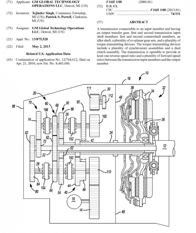 GM files patent for seven-speed dual-clutch transmission
