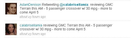 GMC Terrain, tweeted