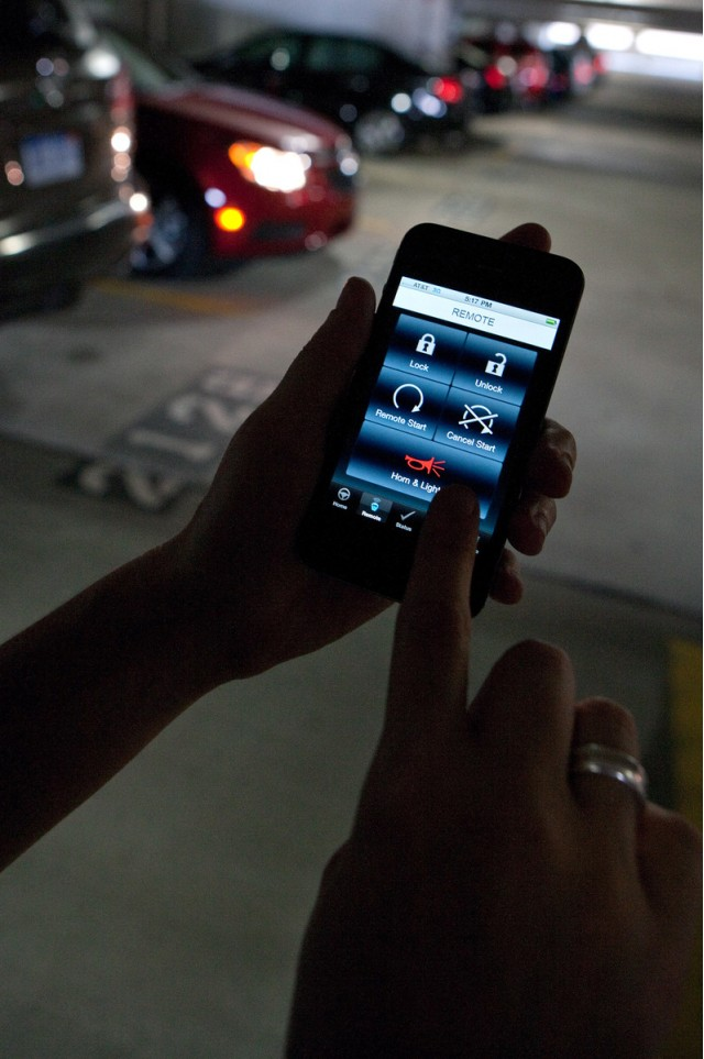 GM's OnStar smartphone app technology
