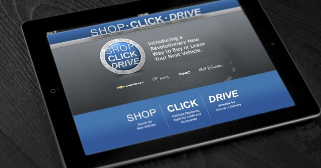 GM's Shop-Click-Drive online car-shopping program sends users to local dealers to complete the sale