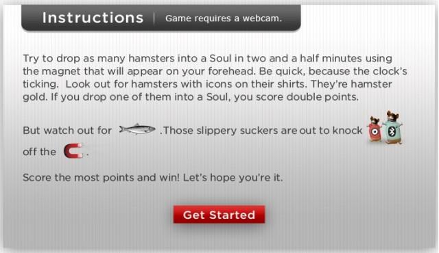 Go Hamster Go Facebook app from Kia