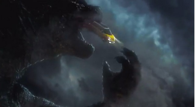 Godzilla about to swallow a Fiat 500L