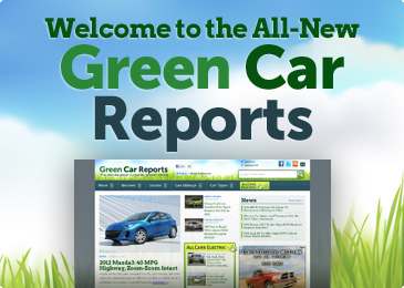 Green Car Reports redesign launch graphic