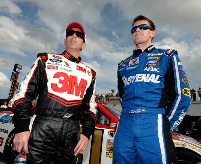 Greg Biffle and Daytona 500 polesitter Carl Edwards - NASCAR photo