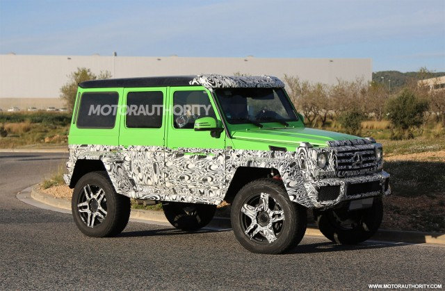 Hardcore mercedes amg g63 spy shots for How much is a mercedes benz g63