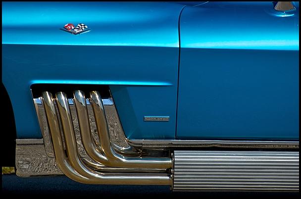 Harley J. Earl's custom 1963 Chevy Corvette. Images via Mecum Auctions.