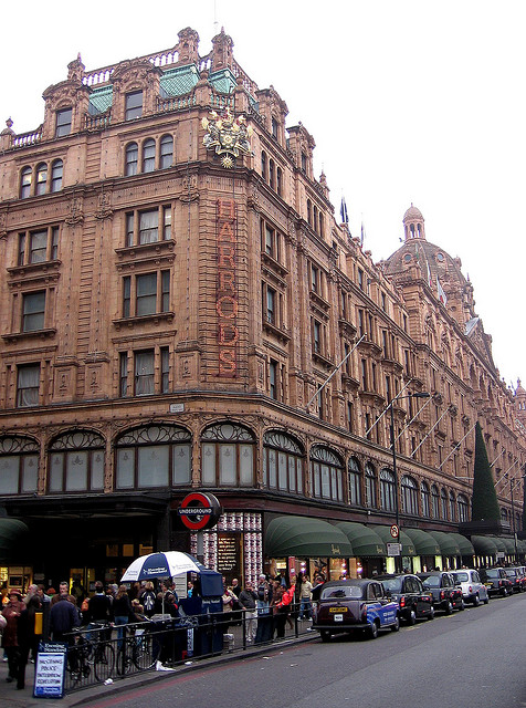 Harrods department store in London, by Flickr user OliverN5