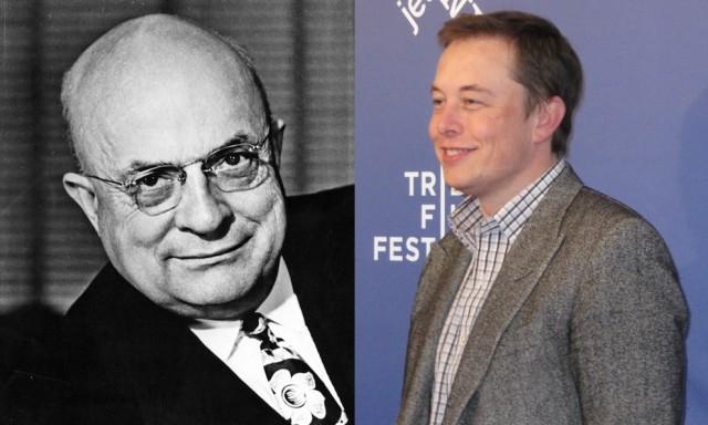 Henry J. Kaiser and Elon Musk, CEO, Tesla Motors [Kaiser image courtesy Kaiser Permanente]